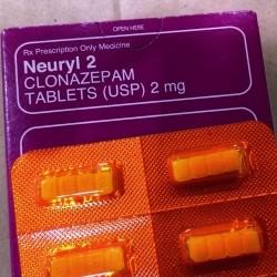 Clonazepam NEURYL (Klonopin) US$ 1.75 ea